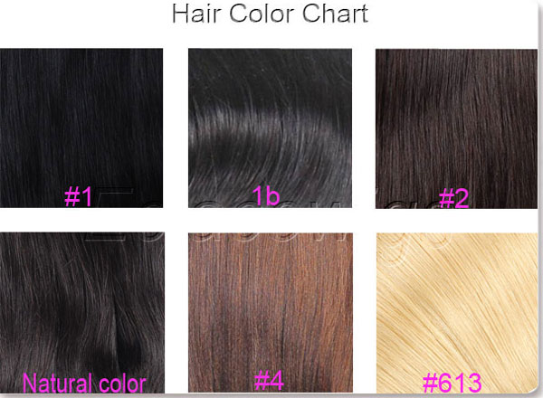 human lace wigs color chart