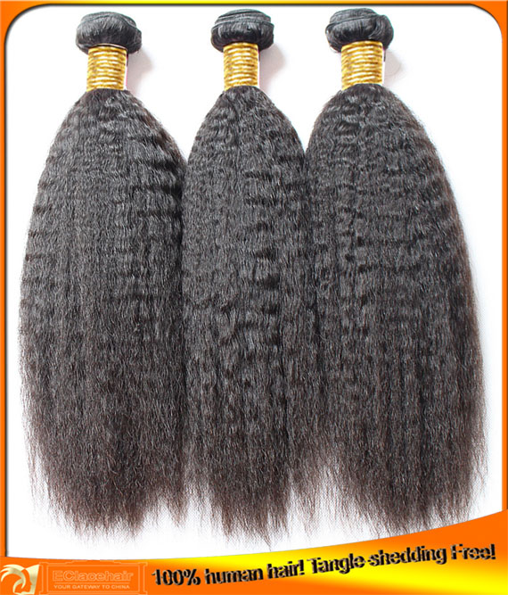 Wholesale Kinky Straight Hair Wefts,Hair Factory