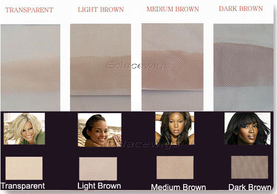 lace color chart of hairpieces