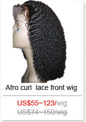 afro curl wig style