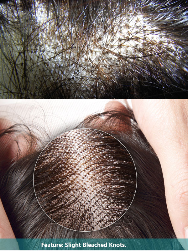 bleached knots of hairpieces