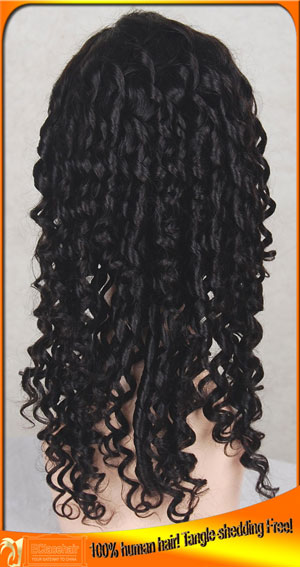 Spiral Curl Full Lace Wigs Human Hair Factory