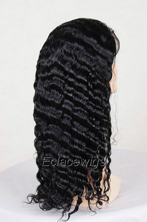 Water Wave Indian Human Hair Full Lace Wigs