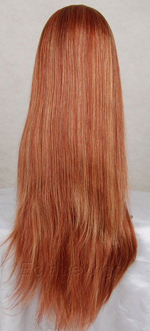 Streak highlight full lace wig,by skilled worker