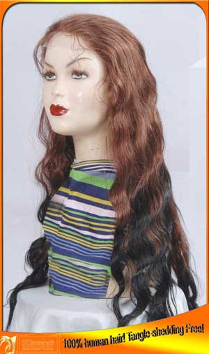 Two toned colors lace wig,Special making
