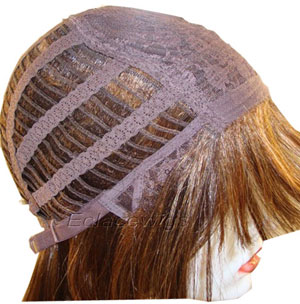Machine made weft wig