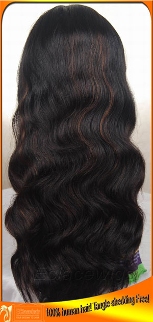 Full Lace Wigs Human Hair with highlights