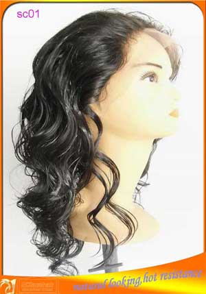 Synthetic lace front wig,resist high temperature