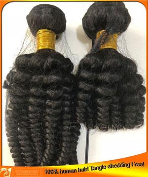 Tight curl virgin hair wefts,hair factory