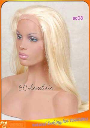 613/24 highlight synthetic front lace wigs