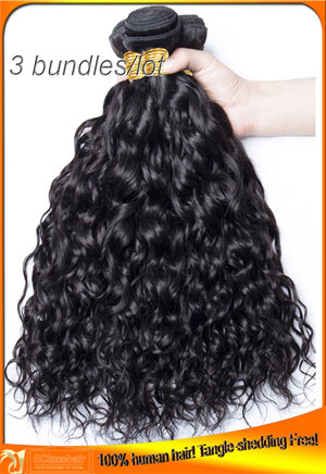 Wholesale Water Wave Virign Hair Weaves-3pcs/lot
