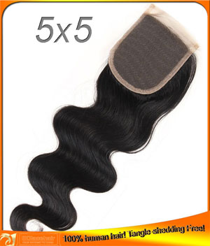 Body Wave Top Closures,Indian Hair,Factory Price