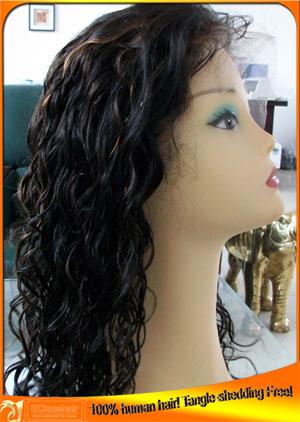 Brazilian loose curl full lace wig,wig price