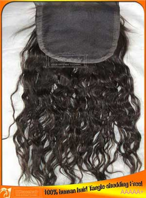Indian hair top closures in stock,no shedding