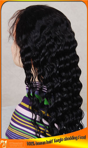 Deep Wave Front Lace Wigs Human Hair