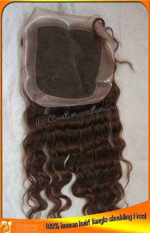 Indian hair PU top closures-wholesale