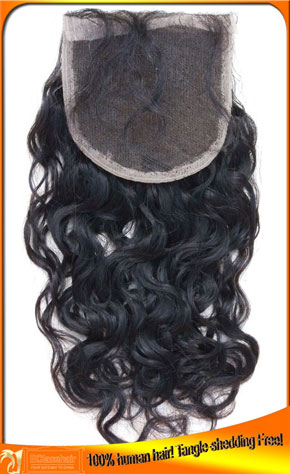 Wholesale Deep Curl Virgin Brazilian Top Closures