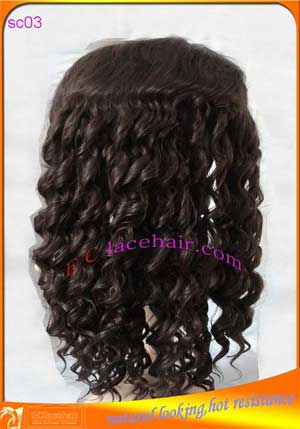 Synthetic lace front wig,endure high temperature