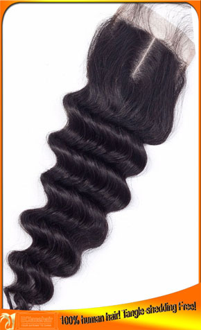 Deep wave Top closure Price,Hair Products Factory