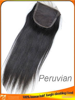 Straight Virgin top closure in stock,hair price