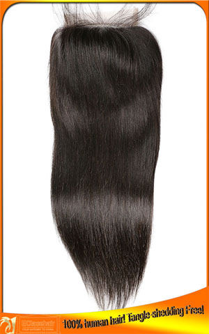 Straight Virgin top closure in stock,hair price
