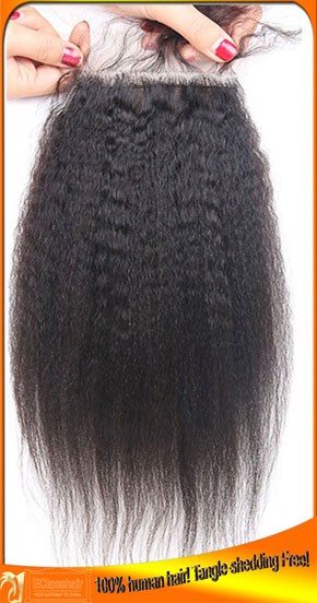 Human Hair Indain Remy Silk Base Lace Top Closures
