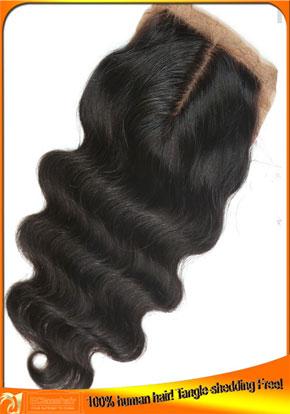 Indian Virgin Hair Body Wave Silk Top Closure 4x4
