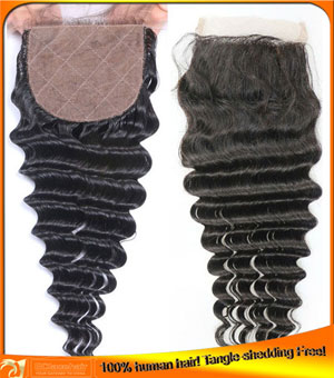 Indian Virgin Silk Top Closures,Size 4*4 in Stock