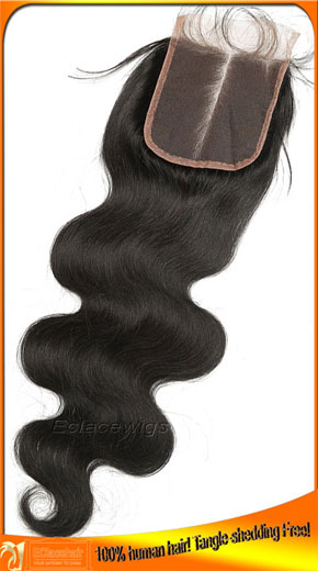 Indian Virgin Human Hair Lace Top Closures 4x4