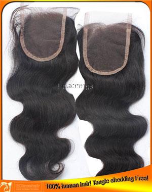 Indian Virgin Human Hair Lace Top Closures 4x4