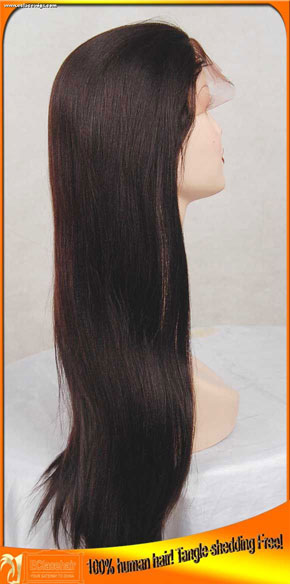 Wholesale Cheap Indian Remy Human Hair Lace Front  Wigs with Babyhair,Add Bangs