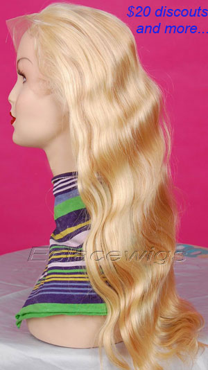 Color 613 Chinese Hair Full Lace Wig