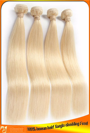 Real High Quality Brazilian Blonde 613 Hair Weave Bundles Wholesale