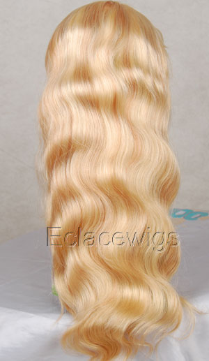 Color 613 Human Hair Lace Front Wig