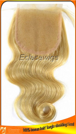 Stocked Brazilian Hair Color 613 Top Lace Closures