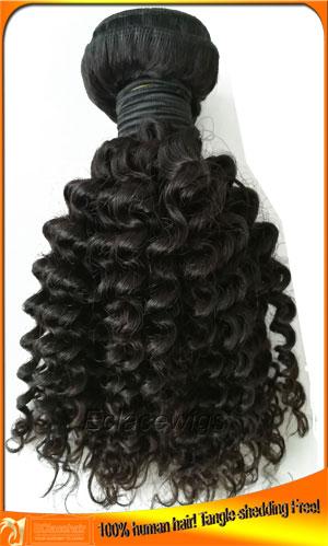 Brazilian Virgin Kinky Curl Human Hair Weave Bundles