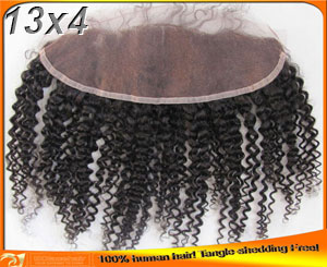 Indian Human Kinky Curl Lace Frontals