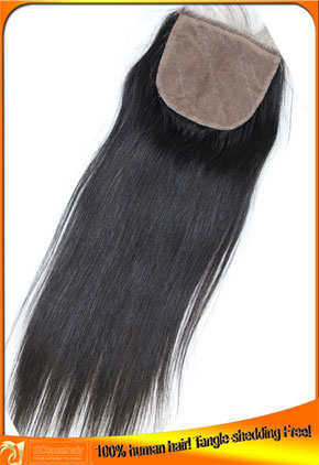 Indian Virgin Human Hair Silk  Lace Top Closures