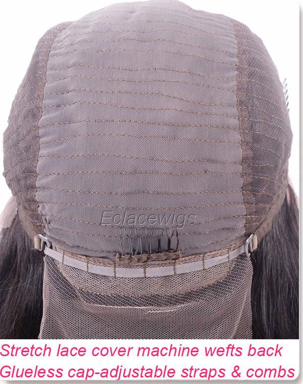 Backside of lace front wig cap