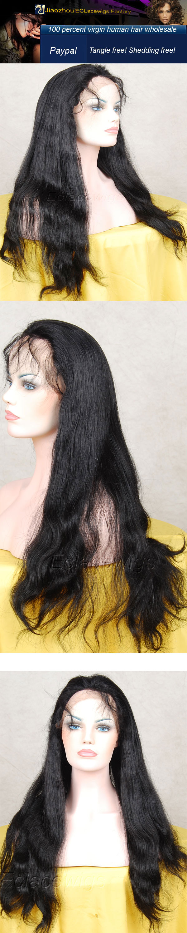 natural straight wig