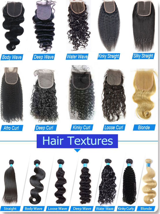 texture chart of hairpieces