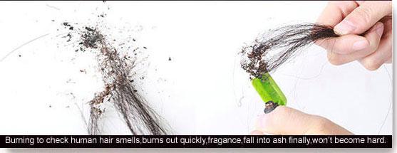 method to test human hair