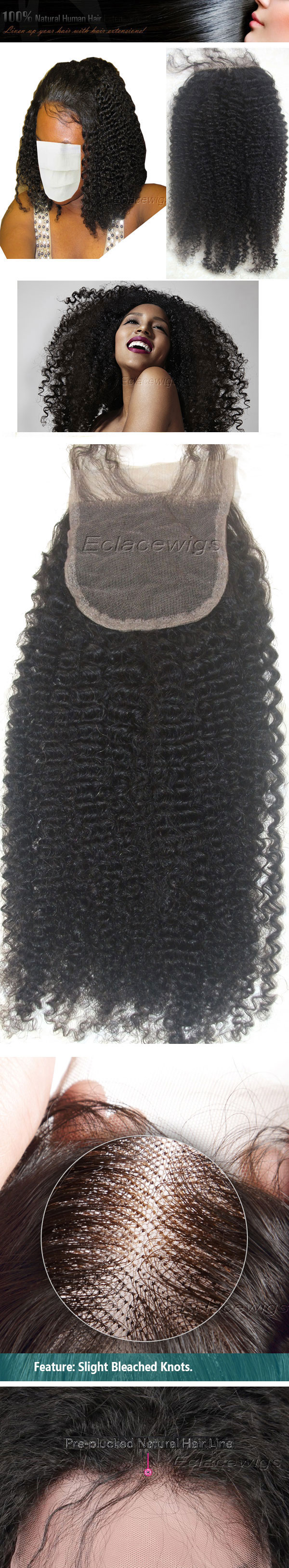 afro curl lace closure