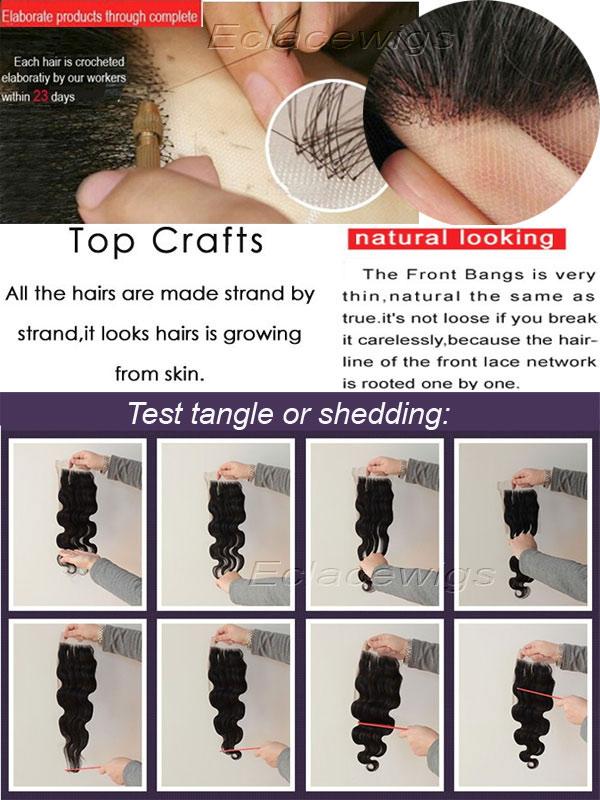 Test lace closure