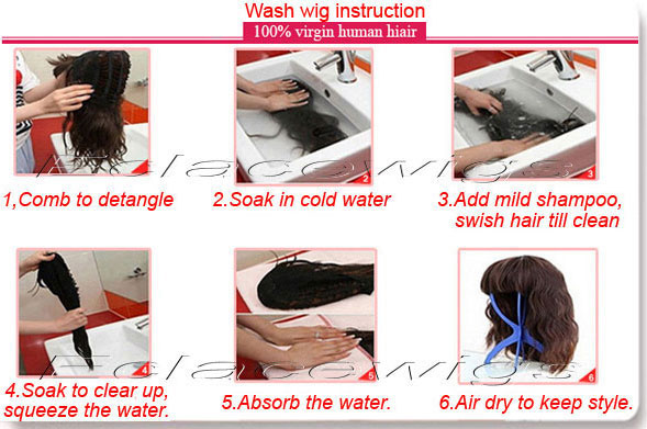 care and wash human hair wig