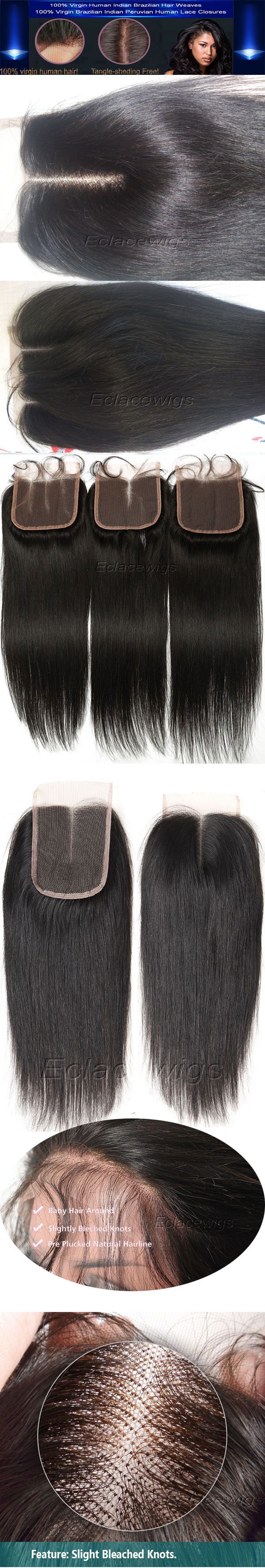 Straight lace closures