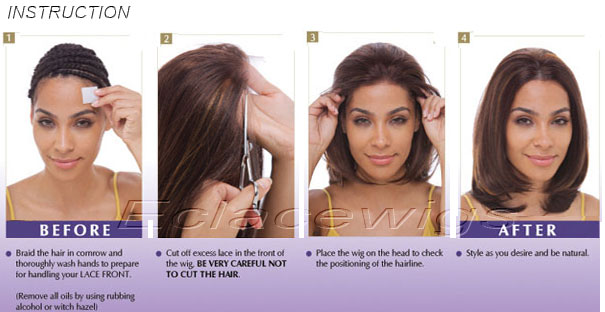 procedure of applying lace wig