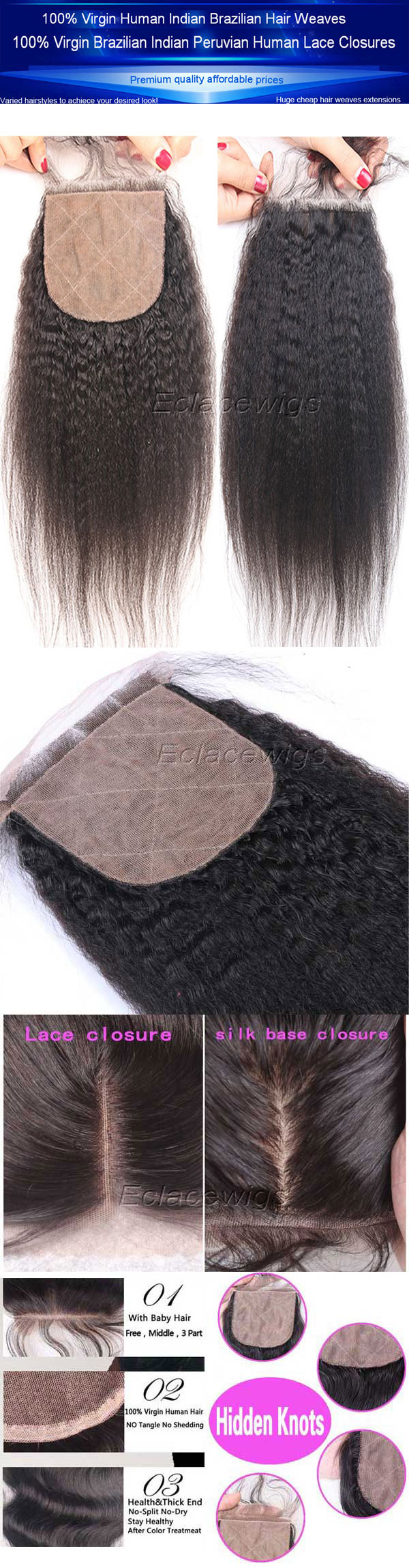 silk base virgin closures