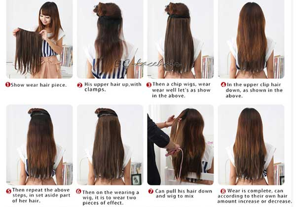 wear hair extensions