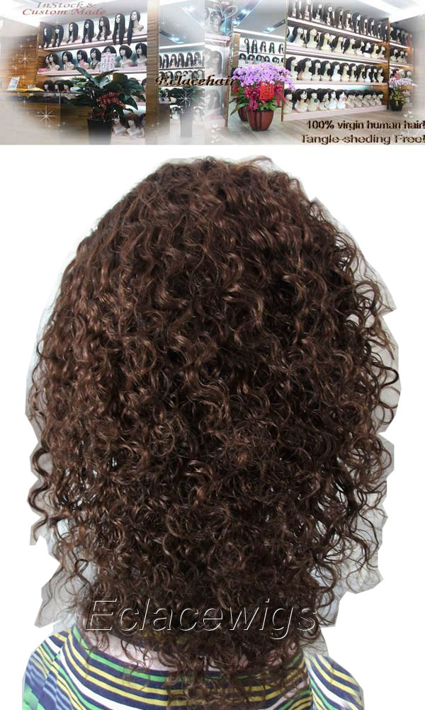 8 mm curl lace wig